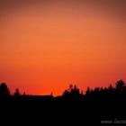 Sunset in Altenau, Sonnenuntergang in Altenau