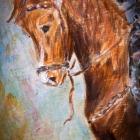 Pferd und Reiter, Acryl 40 x 60 cm