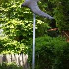 Wanderfalkenskulptur 60 cm, lebensgroß